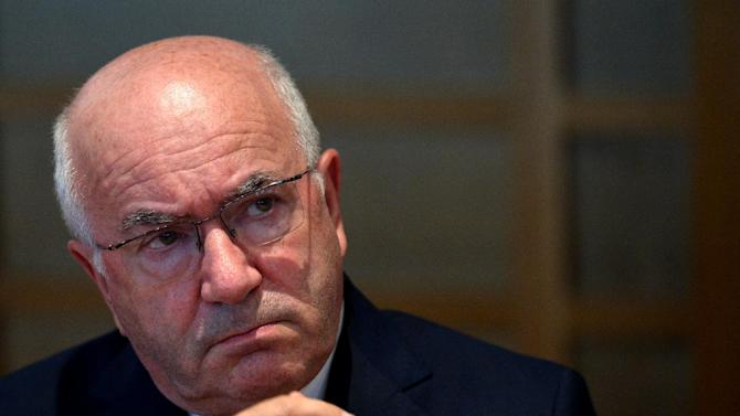 Italian football federation president Carlo Tavecchio, pictured on August 18, 2014 at a press conference in Rome