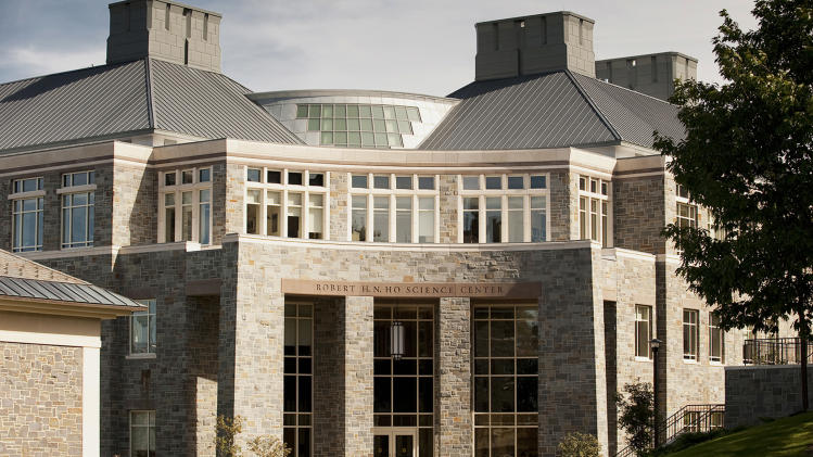 This Sept. 24, 2009 photo provided by Colgate University shows the Robert H.N. Ho Science Center at Colgate University in Hamilton, N.Y. A $480 million fundraising campaign helped pay for this and other projects on Colgate's campus, but possible changes in the tax law could affect donations to higher education. (AP Photo/Colgate University, Andrew M. Daddio)