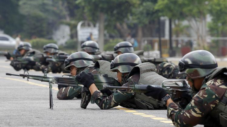 Soldiers participate in a capability demonstration in Manila