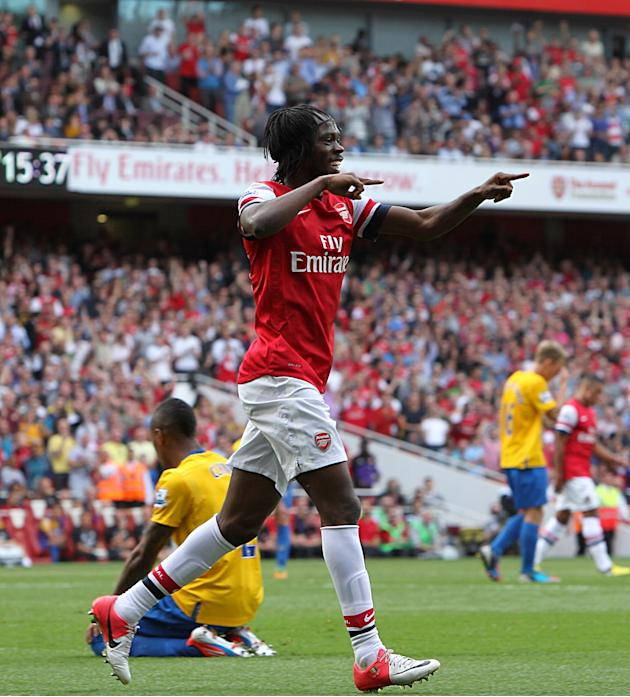 Gervinho scored a brace in Arsenal's triumph over Southampton