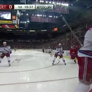 Erik Cole Hit on Marc Staal (01:25/1st)