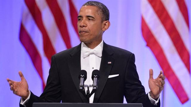 Obama thanks service members in inaugural ball speech