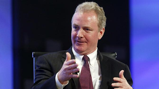 Rep. Chris Van Hollen, D-Md., ranking member on the House Budget Committee, speaks about the budget at the 2013 Fiscal Summit in Washington, Tuesday, May 7, 2013. (AP Photo/Charles Dharapak)