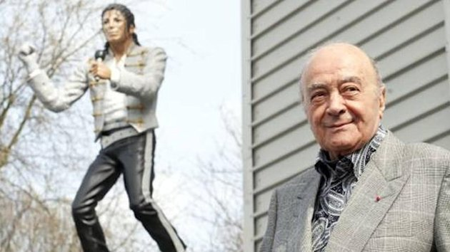 Al Fayed and Michael Jackson