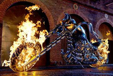 The Hellcycle in Columbia Pictures' Ghost Rider