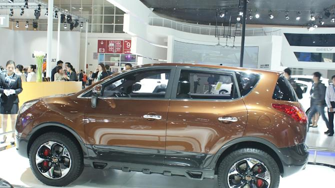 The Geely Emgrand on show at Auto China 2012