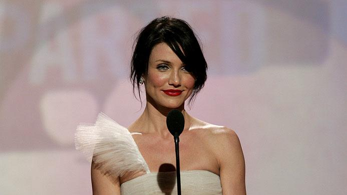 Cameron Diaz at the 64th annual Golden Globe Awards.
