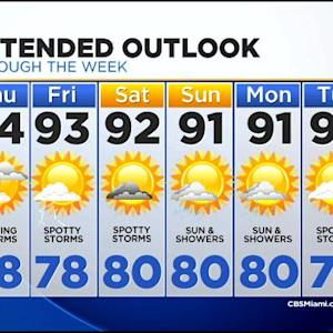 CBSMiami.com Weather @ Your Desk 7/30 11:30 P.M.
