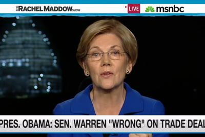 "Elizabeth Warren on Obama's trade deal: ""He won't put the facts out there"""