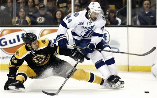 Rask gets shutout as Bruins beat Lightning 2-0