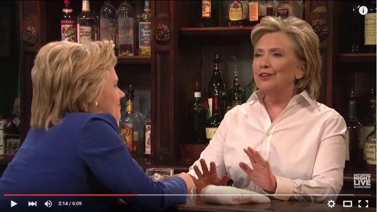 Clinton raises laughs with primetime TV skit