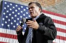 Republican presidential nominee Mitt Romney speaks during a campaign stop at Bun's Restaurant in Deleware