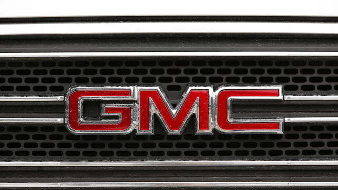 A detail view of the GMC logo is seen on vehicle during the NFLPA One Team One Community event at Emily C. Watkins Elementary School on Wednesday January 30, 2013 in LaPlace, Louisiana. (Aaron M. Sprecher/AP Images for NFLPA)