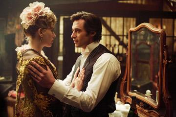 Scarlett Johansson and Hugh Jackman in Touchstone Pictures' The Prestige