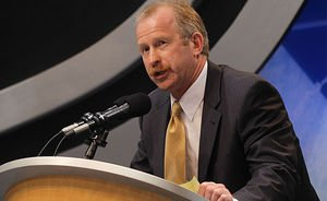 Jim Nill had worked in the Red Wings organization since 1994. (Photo by Bruce Bennett/Getty Images)
