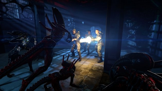 This video game image released by Sega shows a scene from &quot;Aliens: Colonial Marines.&quot; (AP Photo/Sega)