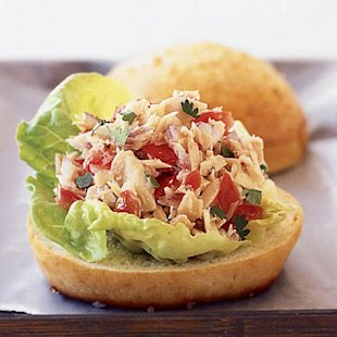 Tuna Tortas with Pico de Gallo