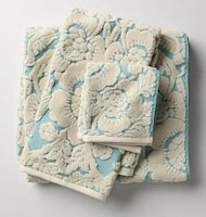 perpetual bloom floral bath towels