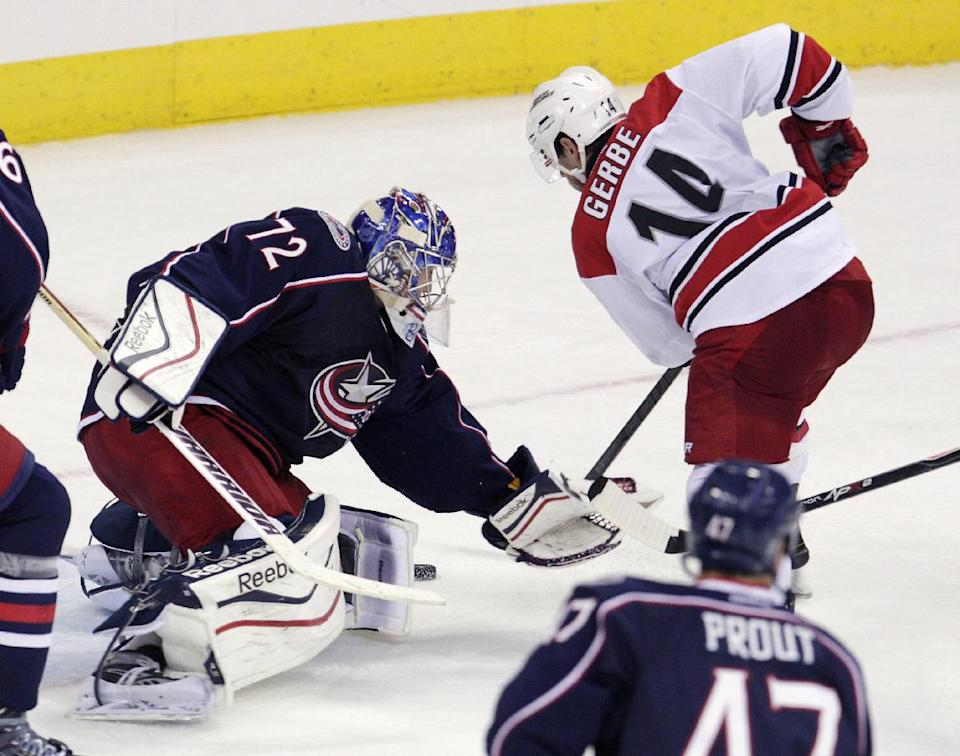 Gerbe lifts Hurricanes over Blue Jackets 2-1
