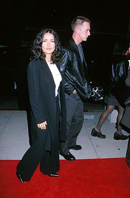 Salma Hayek and Edward Norton at the Beverly Hills premiere of Miramax Films' Chocolat