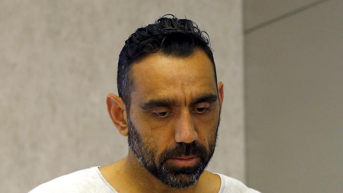 Aboriginal activist and Australian Rules Football legend Goodes appearing at a promotional event in Sydney