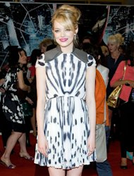 The actress is back on the red carpet - this time in animal print