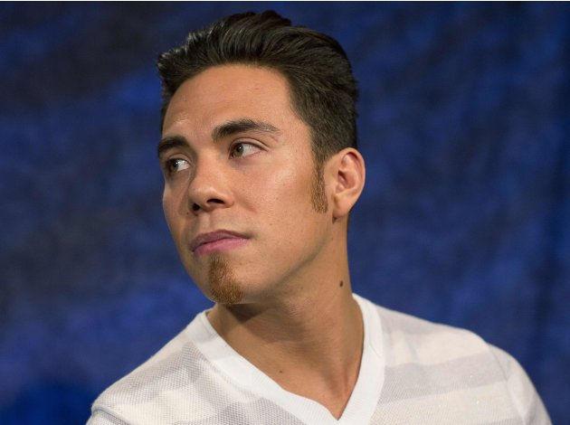 Olympic speed skater Apolo Ohno is seen in New York