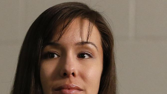 Convicted killer Jodi Arias thinks about a question asked during an interview at the Maricopa County Estrella Jail on Tuesday, May 21, 2013, in Phoenix.  Arias was convicted recently of killing her former boyfriend Travis Alexander in his suburban Phoenix home back in 2008, and could face the possibility of the death penalty as the sentencing phase of her trial continues. (AP Photo/Ross D. Franklin)