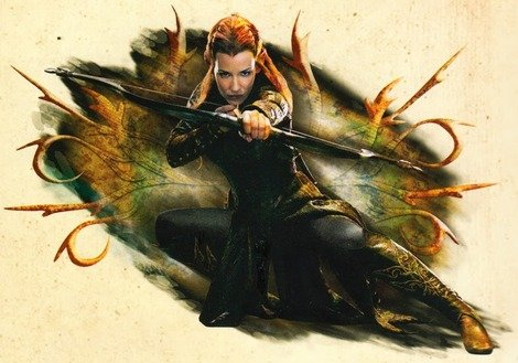 The Hobbit Desolation of Smaug Annual: Tauriel in an action pose