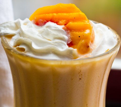Peach and Banana Cream Soy Shake