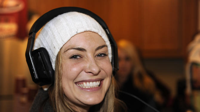 Actress Bobbi Luther wears Inspiration headphones by Monster Products at the Fender Music lodge during the Sundance Film Festival on Friday, Jan. 18, 2013, in Park City, Utah. (Photo by Jack Dempsey/Invision for Fender/AP Images)