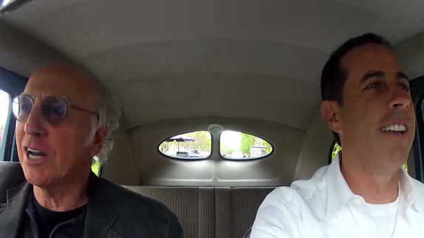 Larry David Rides in a Car with Jerry Seinfeld