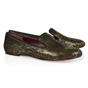 Sequined Leather Loafers Marc by Marc Jacobs: Smoking Slippers: Fashion Trend
