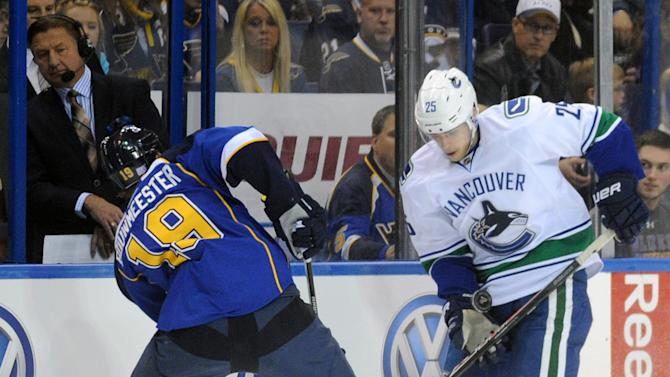 Kesler's OT goal gives Canucks win over Blues