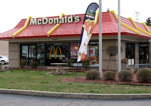 McDonald's restaurant: Credit AP