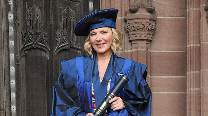 Kim Catrall Graduates With Honorary Degree At The University Of Liverpool