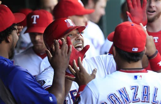 Cruz has 8 RBIs, Rangers power past Blue Jays 14-3