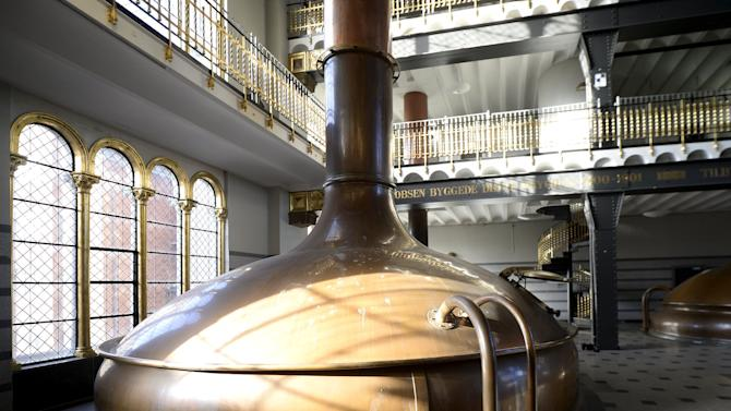 File photo shows old brew kettles at the Carlsberg headquarters in Copenhagen