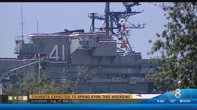 Tourists expected to spend $70M over holiday weekend