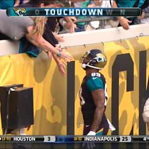 Jacksonville Jaguars tight end Marcedes Lewis 13-yard touchdown