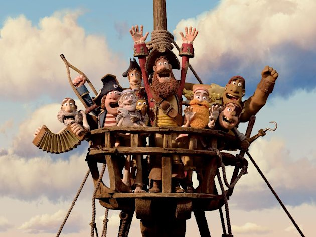 In this film image released by Sony Pictures, the cast is shown in a scene from &quot;The Pirates! Band of Misfits.&quot; (AP Photo/Aardman Animation for Sony Pictures Animation)