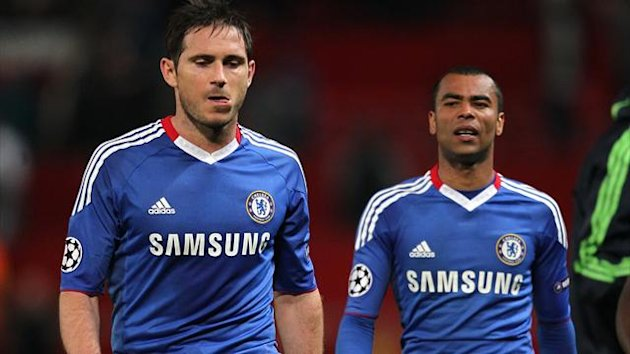 Chelsea's Frank Lampard (left) and Ashley Cole (right)