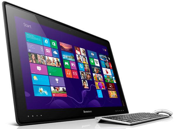 3. Lenovo IdeaCentre Horizon Komputer meja dengan layar 27 inci ini mengusung konsep yang menarik dan asli. Lenovo IdeaCentre Horizon dapat difungsikan sebagai tablet Windows 8 berukuran ekstra besar
