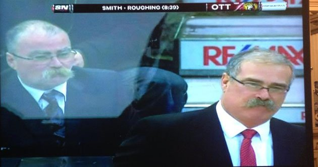 Paul MacLean's Evil Twin Is Seriously Freaking Us Out During Ottawa Senators Game (PHOTOS/) (video)