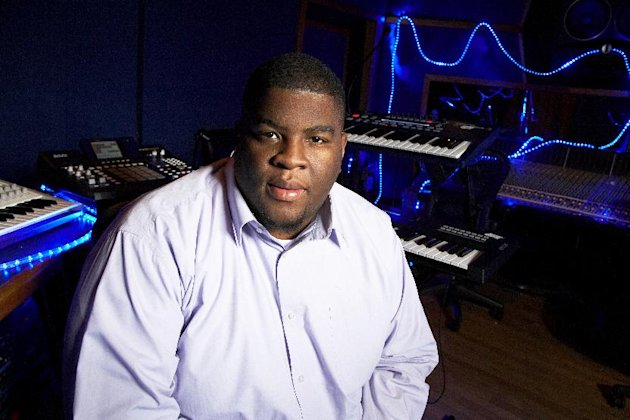 "This Jan. 29, 2013 photo shows Grammy-nominated producer Salaam Remi posing for a portrait at his studio in New York. Remi, best known for his work with Amy Winehouse and Nas, is nominated for non-classical producer of the year at Sunday's Grammy Awards. Last year, his production credits include songs on Nas' ""Life Is Good"" and Miguel's ""Kaleidoscope Dream,"" as well as Alicia Keys' R&B hit ""Girl on Fire."" (Photo by Dan Hallman/Invision/AP)"