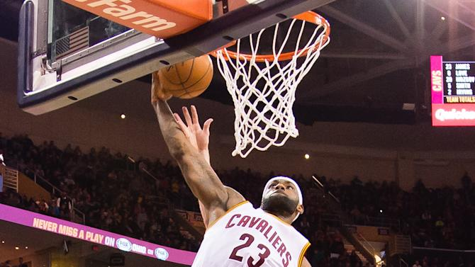 LeBron scores 26, Cavaliers cruise past Jazz 106-92