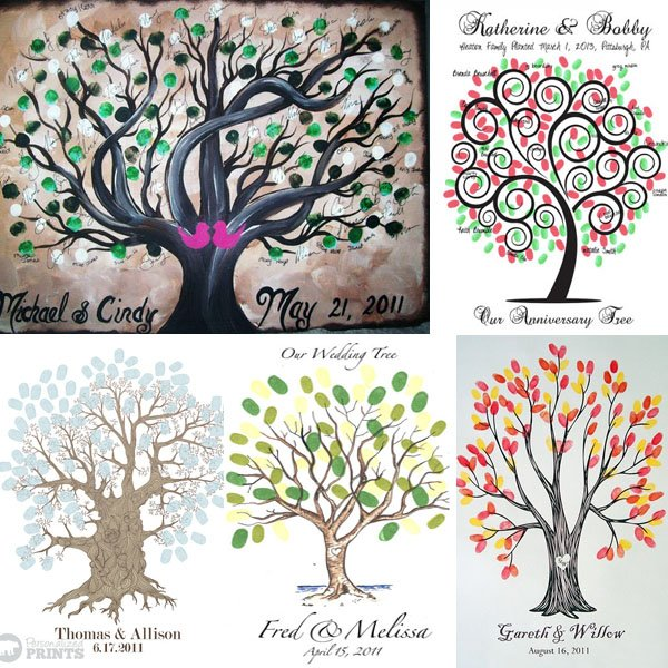 1. Thumbprint Tree Guest Book