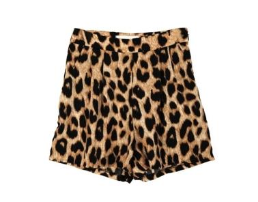 Leopard print will add a bit of pop to your ensemble.  Modekungen leopard print shorts, $62,…