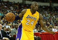 Los Angeles Lakers' Kobe Bryant during a game at Save Mart Center in California in October. The Lakers beat the Houston Rockets 119-108 behind a triple double performance from superstar Kobe Bryant on November 18