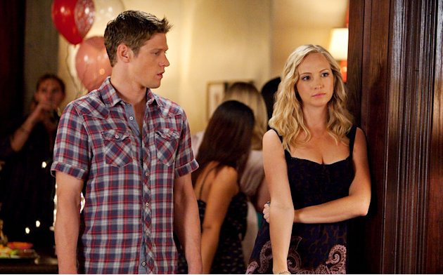 """THE BIRTHDAY ""--Zach Roerig as Matt and Candice Accola as Caroline on THE VAMPIRE DIARIES on The CW. Photo: Annette Brown/The CW ©2011 The CW Network. All Rights Reserved. Vampire Diaries"